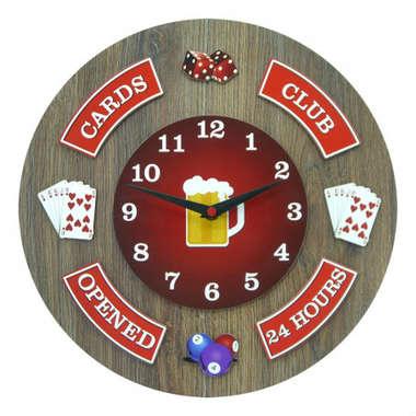 Relógio em MDF - Cards - 35 cm de diâmetro