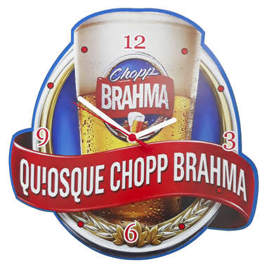 Relógio em MDF - Quiosque Brahma
