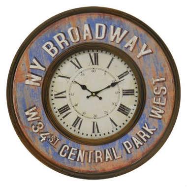 Relógio em Metal - NY Broadway - 60 cm de diâmetro