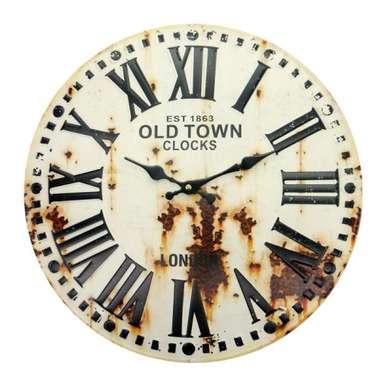 Relógio em Metal com alto relevo - Romano com ferrugem - 40 cm de diâmetro