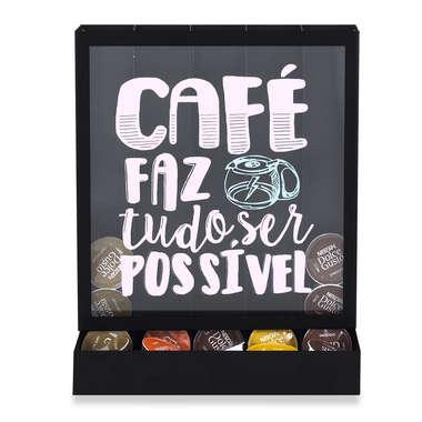 Suporte para Cápsulas de Café Universal - Com café tudo é possível