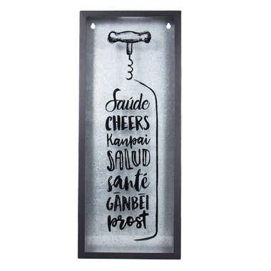 Quadro Porta Rolhas de Vinhos - Cheers
