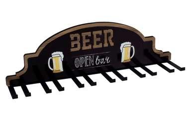 Suporte metal e MDF p/ taças - Beer Open Bar
