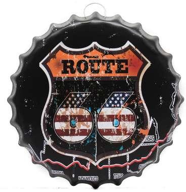 Tampa Decorativa Metal 40 cm - Route 66