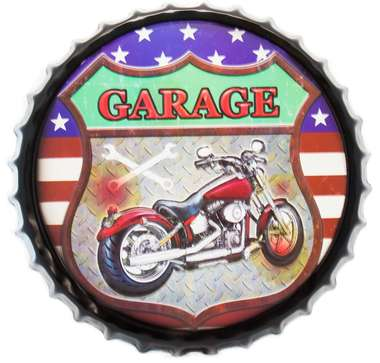 Tampa Decorativa Metal 50 cm - Garage