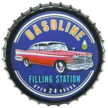 Tampa Decorativa Metal 50 cm - Gasoline