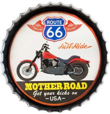 Tampa Decorativa Metal 50 cm - Mother Road