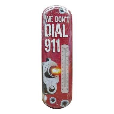 Termômetro De Parede Metal - 911  - 43 x 13 cm