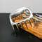 Kit Churrasco Tridente + 12 Garfinhos + Garra + Base de madeira - 15 peças