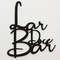 Palavra Decorativa para parede - Lar Doce Bar - 32 x 37 cm