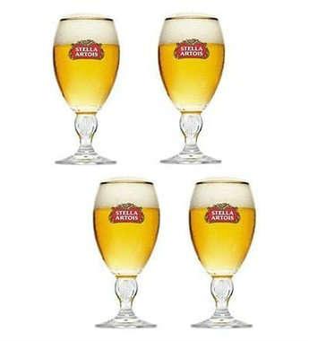 Kit 4 Cálices Stella Artois 250ml