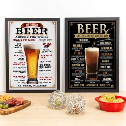 Kit Especial - Quadros Beer + Styles Around The World  - 45 x 33 cm