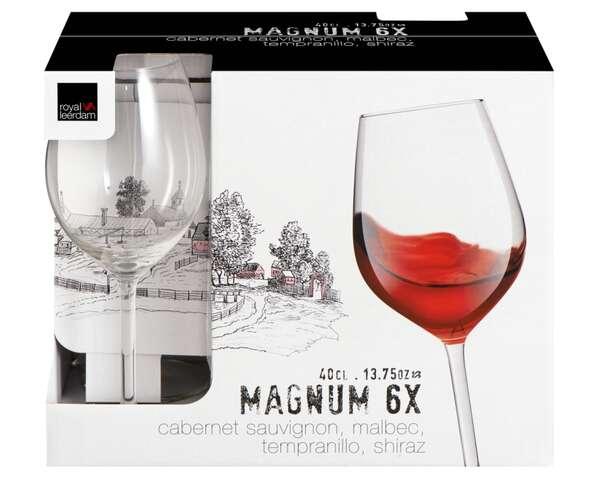 Kit 6 Taças Vinho Magnum 400 ml - Royal Leerdam