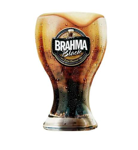 Copo Chopp Brahma BLACK - 430ML
