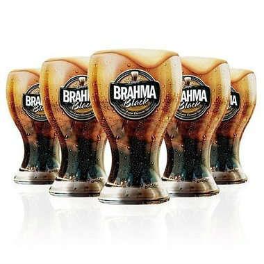 Kit 6 Copos Chopp Brahma Black - 430 ml