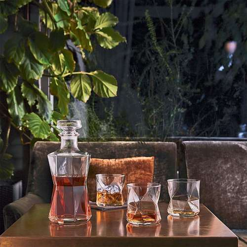 Whisky Set Cassiopea - Garrafa e 6 copos de vidro para bebidas - Bormioli Rocco