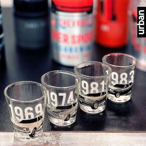 Kit 4 Copos Dose 50 ml - Opala Licenciado Colecionador
