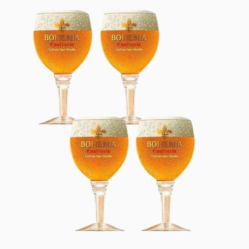 Kit 4 Taças para Cerveja - Bohemia Confraria 430ml