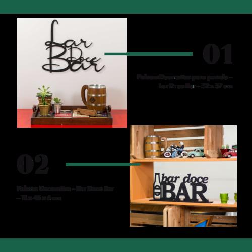 Kit Especial Palavras Decorativas - Lar Doce Bar + Bar Doce Bar