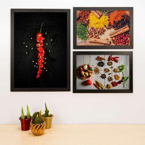 Kit Especial - 3 Quadros Spices - 45x33 e 33x22 cm