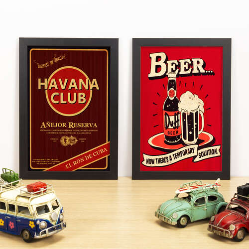 Kit Especial - Quadros Havana + Duff Solution - 33x22 cm