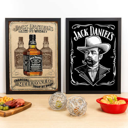 Kit Especial - Quadros Jack Daniel´s - 45x33 cm