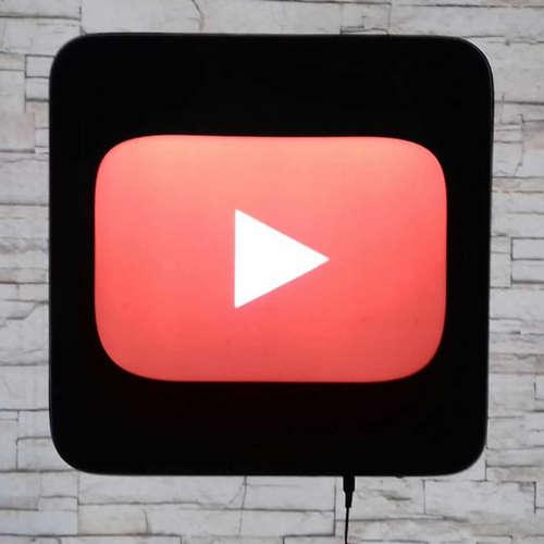 Luminoso YouTube - 40cm