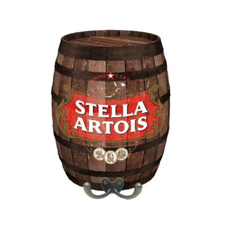 Mini Barril Cabideiro Em Mdf Stella Artois