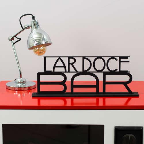 Palavra Decorativa - Lar Doce Bar - 17 x 45 x 6 cm