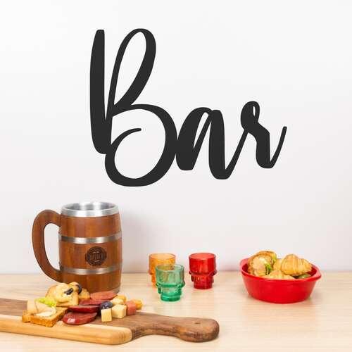 Palavra Decorativa para Parede - Bar - 31 cm x 25 cm x 3 mm