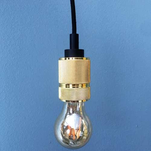 Pendente Industrial Soquete Dourado 7388 - Mart Collection