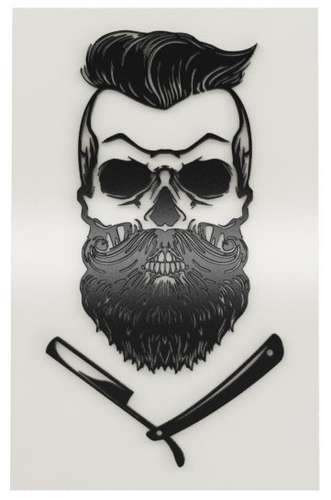 Placa Decorativa MDF Pintura Laca - Barber