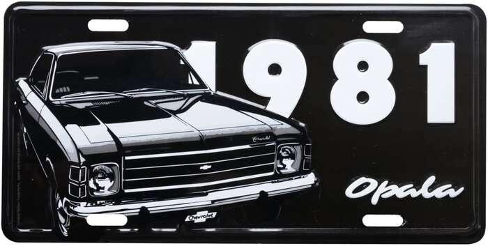 Placa Decorativa de Metal 15 x 30 cm - GM Opala 1981