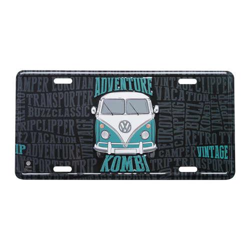 Placa Decorativa de Metal 15 x 30 cm - VW Kombi Lovers - Volkswagen