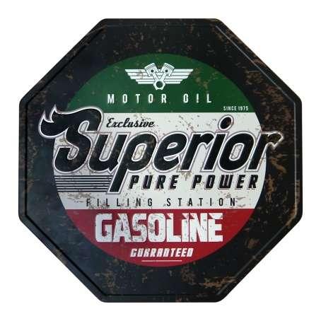 Placa Decorativa de Metal 30 x 30 cm - Gasoline