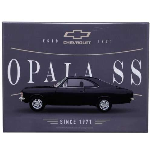 Placa Decorativa de Metal - GM Opala SS  1971 - 19 x 26 cm