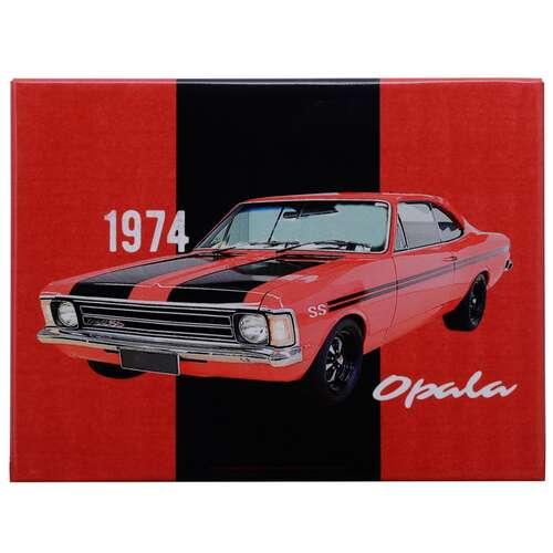 Placa Decorativa de Metal - GM Opala SS  1974 - 19 x 26 c