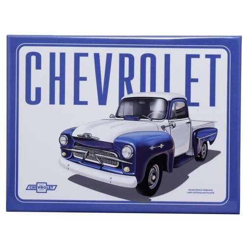 Placa Decorativa de Metal - GM Pick Up 3100 Authentic Azul - 19 x 26 cm