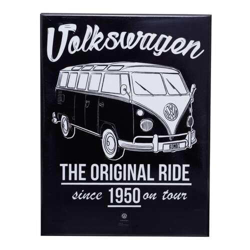 Placa Decorativa de Metal - Volkswagen Kombi - 26 x 19 cm