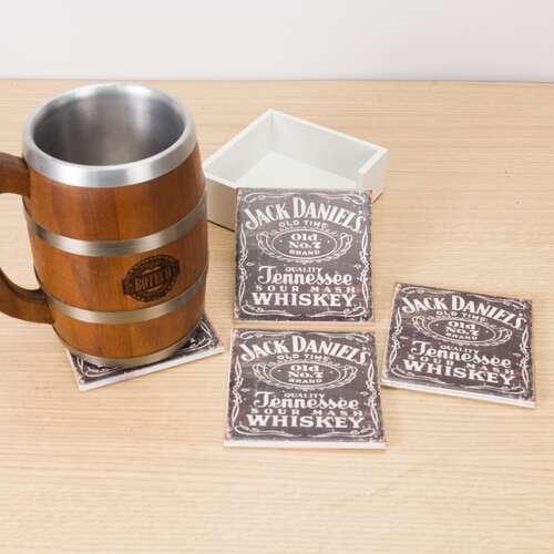 Kit 4 Porta Copos - Jack Daniel´s - Suporte (Brinde)
