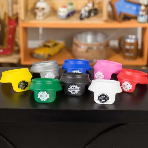 Protetores para latinhas de cerveja ou refrigerante - Jogo com 6 unidades