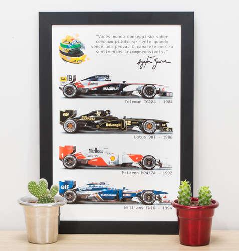 Quadro A Lenda Ayrton Senna - 33x22 cm