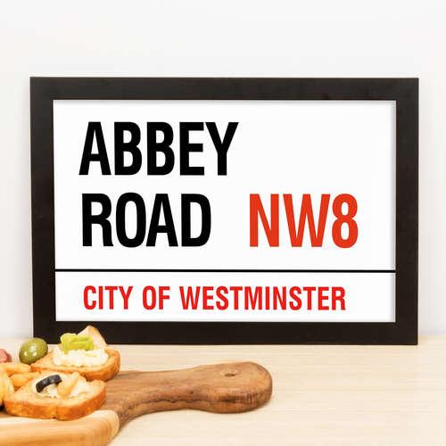 Quadro Abbey Road NW8- 23x33 cm