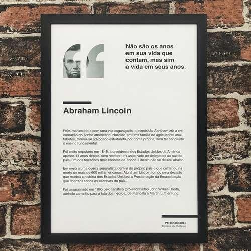 Quadro Abraham Lincoln - 45x32,5 cm