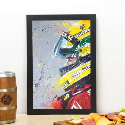 Quadro Ayrton Senna - 33x22 cm