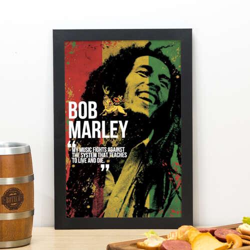 Quadro Bob Marley - 33x22 cm