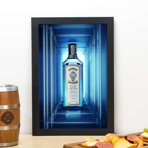 Quadro Bombay Sapphire Neon- 33x22 cm