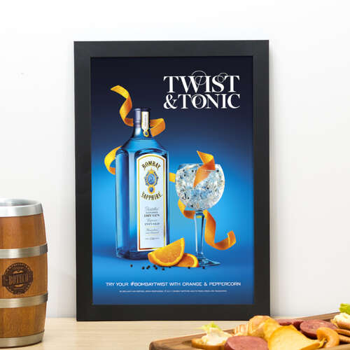 Quadro Bombay Sapphire Twist Tonic- 33x22 cm