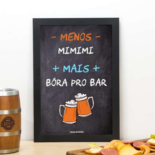 Quadro Bóra pro bar - 33x22 cm