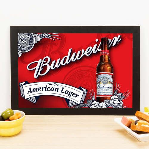 Quadro Budweiser American Lager- 22x33 cm